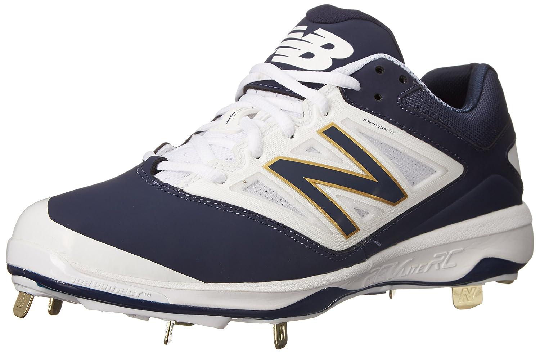 New Balance Men's L4040V3 Cleat Baseball Shoe B00SJ5UPI0 7.5 2E US Navy/White
