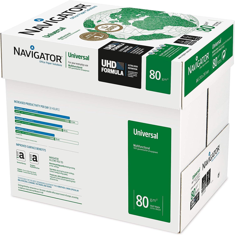 Navigator Universal - Papel multiusos para impresora - 2500 hojas: Amazon.es: Oficina y papelería
