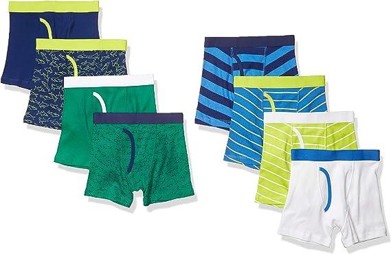 Cars and Stripes EU 128 CM Essentials Boys 8-Pack Boxer Brief Briefs