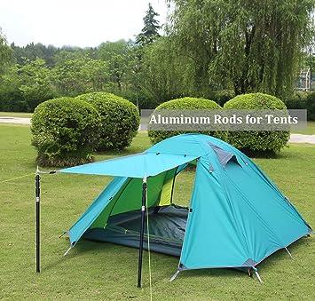 Aluminio toldo toldo toldo telesc/ópico Ajustable 90 Bastones para Tienda de campa/ña alquitranado HIKEMAN toldo toldo toldo 230 cm Porche
