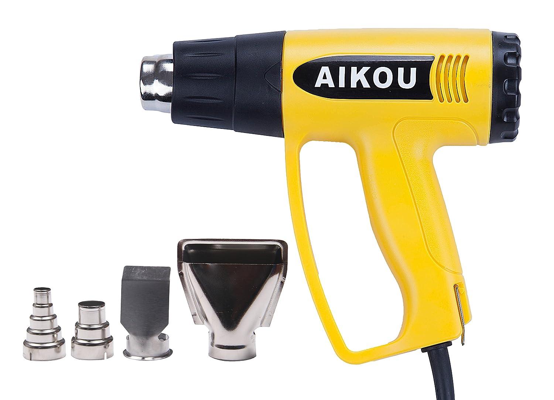 Pistola de aire caliente 50 -2 a/ños de garant/ía 1800W 220V Amarillo 600℃ profesional para quitar pintura,DIY,soldadura y contracci/ón de PVC