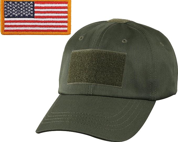 ... 12501 d7703 Amazon.com Olive Drab Military Tactical Operators Cap With  Foliage Green USA Flag ... cd44461a857