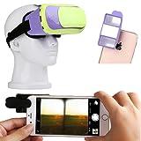 (IN MODE) VR ゴーグル 仮想現実 お手軽体験&VR動画作成キッド とすぐ遊べるアプリ6本 A-233 (紫×緑)