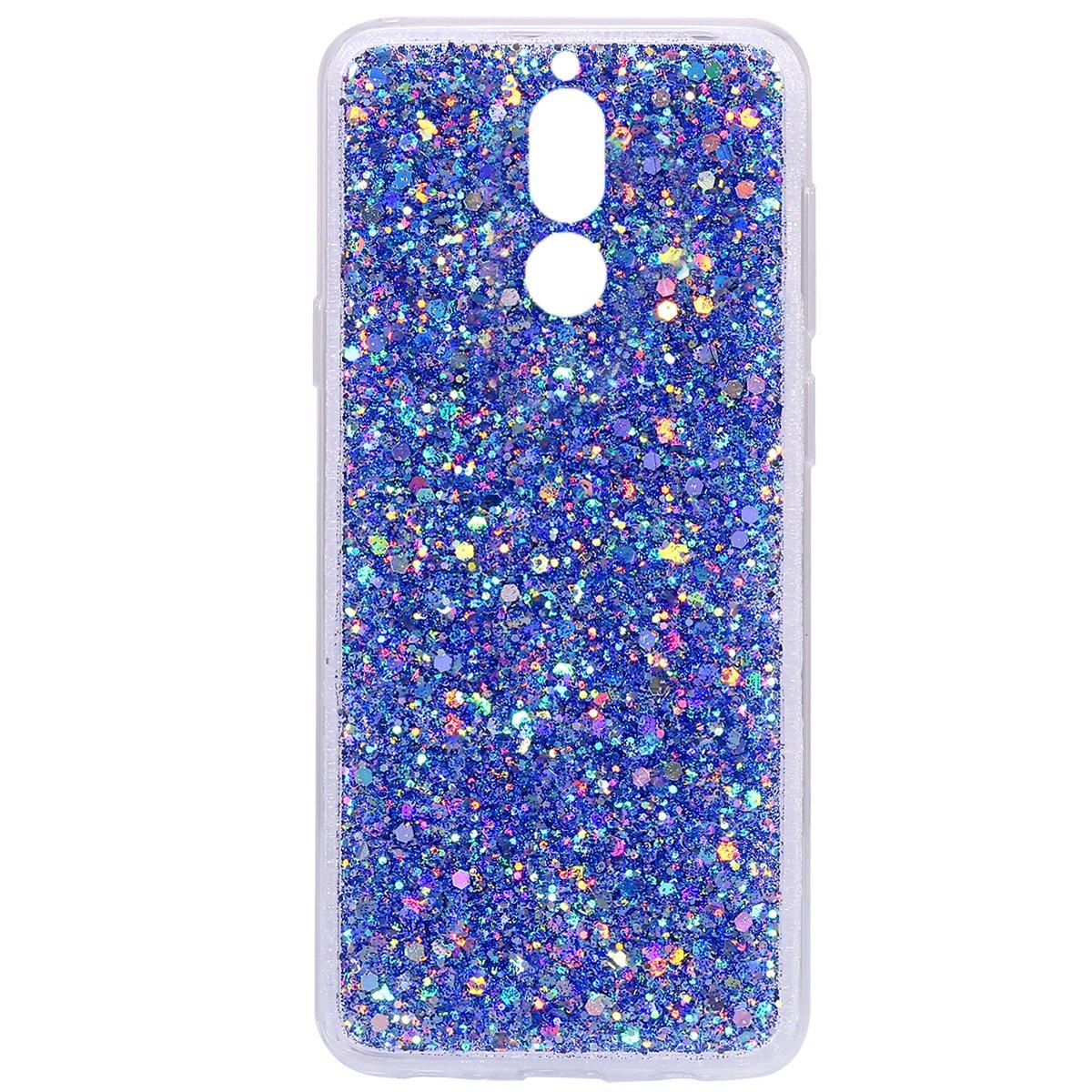 ikasus brillante brillante con purpurina en polvo 3D de diamante Paillette delgado con purpurina flexible de goma suave TPU carcasa prot funda para Huawei Mate 10 Lite Funda para Huawei Mate 10 Lite