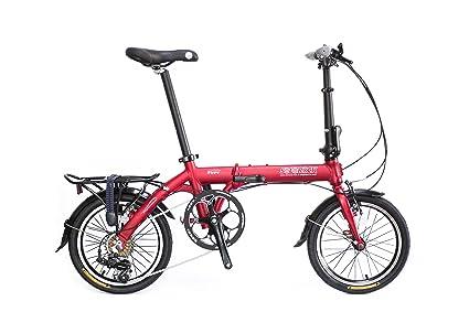 """SoloRock 16"""" 7 Speed Aluminum Folding Bike - Swift Model"""