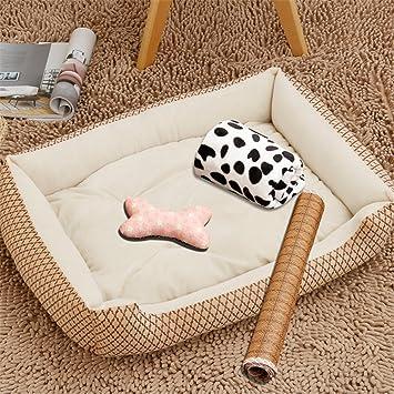 MONEYY cuarto trimestre perro NO 4 piezas, bruta Perros cama colchón pequeñas y medianas grandes perro Caseta de puedan Quitar el dinero: Amazon.es: ...