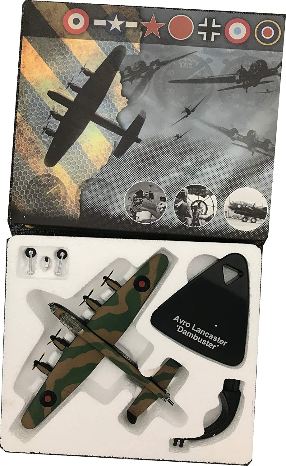 atlas editions RAF Avro Lancaster Bomber 617 Sqn Dambusters aircraft 1:144 scale model 4646101