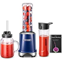 AICOOK batidora de vaso multifunción, mini licuadora 2 en 1 con la taza Mason de 600 ml y la tetera deportiva de 600 ml…