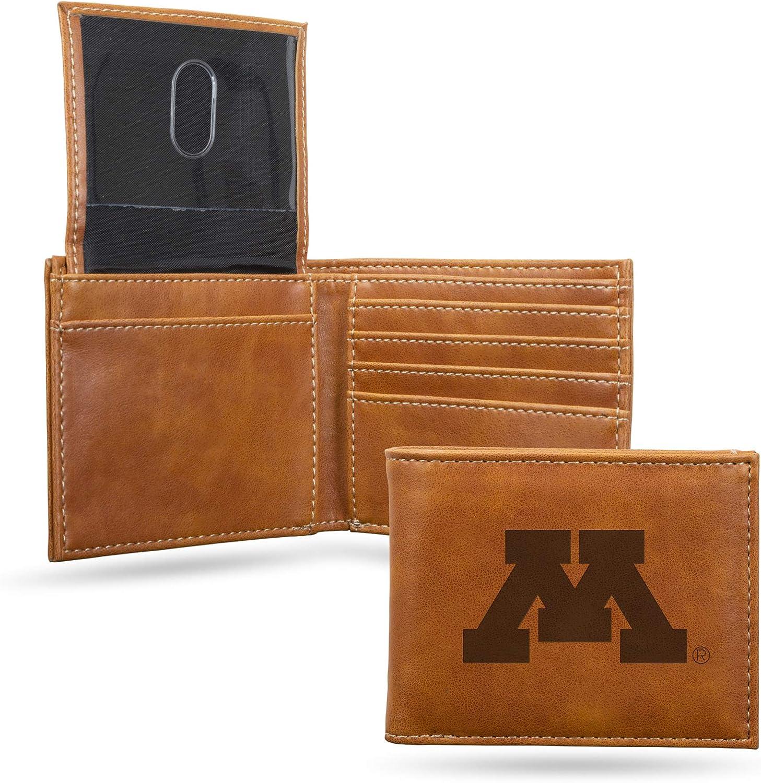 NCAA Rico Industries  Laser Engraved Billfold Wallet Minnesota Golden Gophers