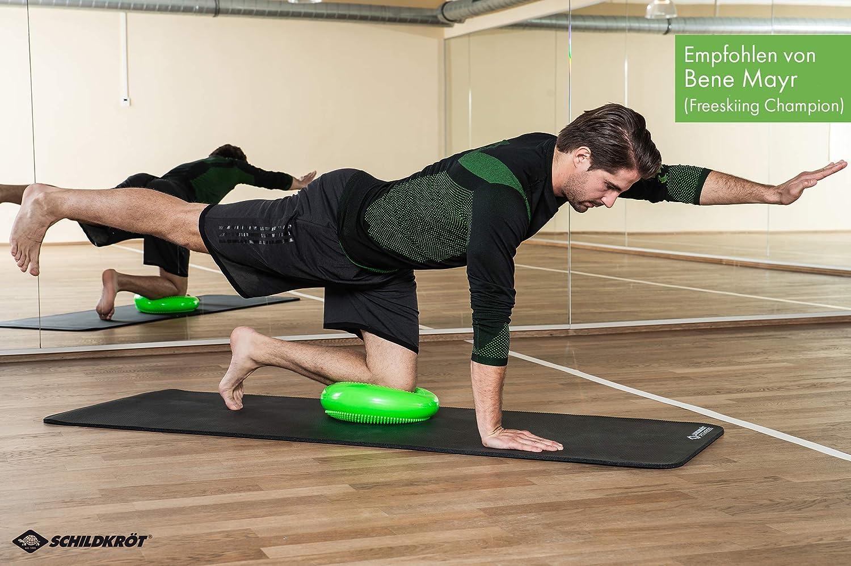 Schildkröt Fitness 960030 - Cojín de Equilibrio, Color Verde