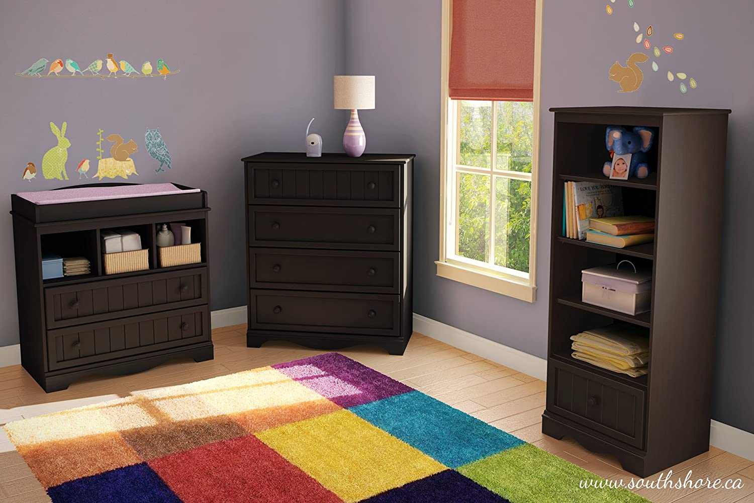 Sand Oak South Shore Furniture 11944 Changing Table with Drawers Savannah