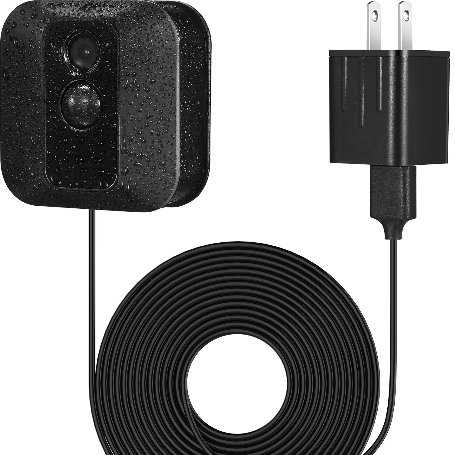 BBTO Power Adapter with 20 ft/6 m Weatherproof Cable for Blink XT Security Camera, Continuously Operate Blink XT Camera, No Need to Change the Batteries (Black)