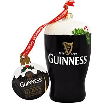 Guinness Christmas Decoration - Pint, Glass, Holly - Amazon.com: Guinness Christmas Tree Decoration (Resin Pint): Home