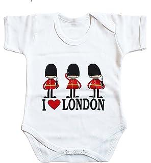 d9e87b4bccdb 100% Cotton Union Jack Souvenir Guards London England Baby Bodysuit and Bib  Apron Grow Gift…