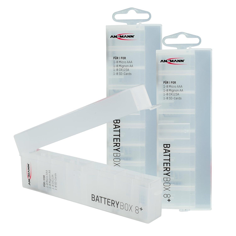 ANSMANN Batteriebox fü r AAA Micro, AA Mignon Akkus & Batterien, Spezialbatterien & Speicherkarten - Akkubox zum Schutz & Transport fü r 8 Accus - Batterie Box & Akku Box zur Aufbewahrung - 5 Stü ck ANSMANN AG 4000033-590