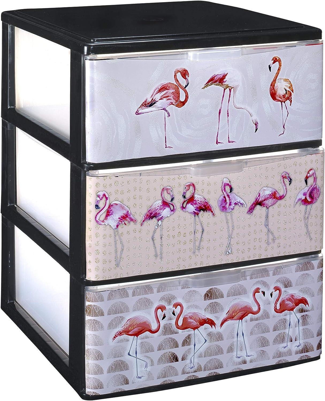 380x370x473 Decorado Alhambra, 3 TODO HOGAR Modelo Iris Cajonera Apilable Plastico para almacenaje
