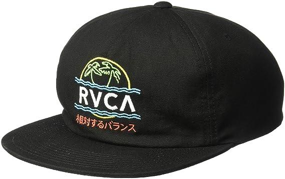 073b592ef1ade4 Amazon.com: RVCA Men's VAKAY Snapback HAT, Black, One Size: Clothing