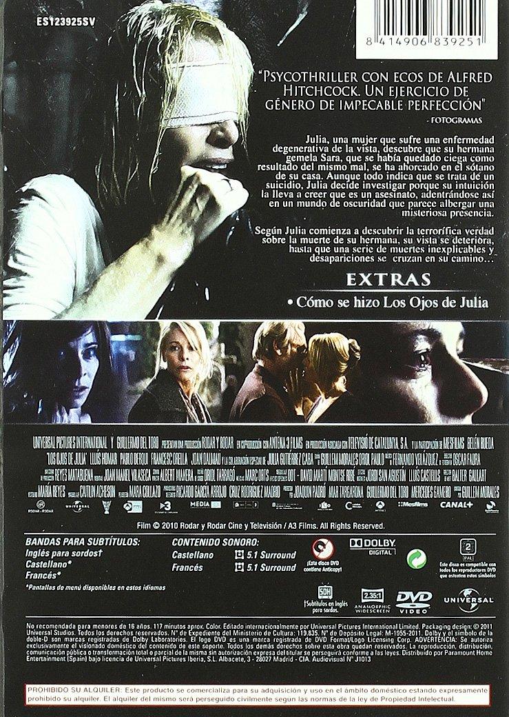 Amazon.com: Julias Eyes (Los ojos de Julia)  (Lost Eyes)  [ NON-USA FORMAT, PAL, Reg.2 Import - Spain ]: Lluís Homar, Francesc Orella, Joan Dalmau, ...