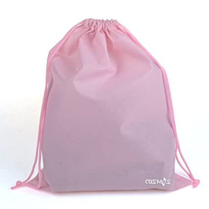 Cosmos 10 Pcs Women's Non-Woven Drawstring Shoe Bags for Travel Carrying