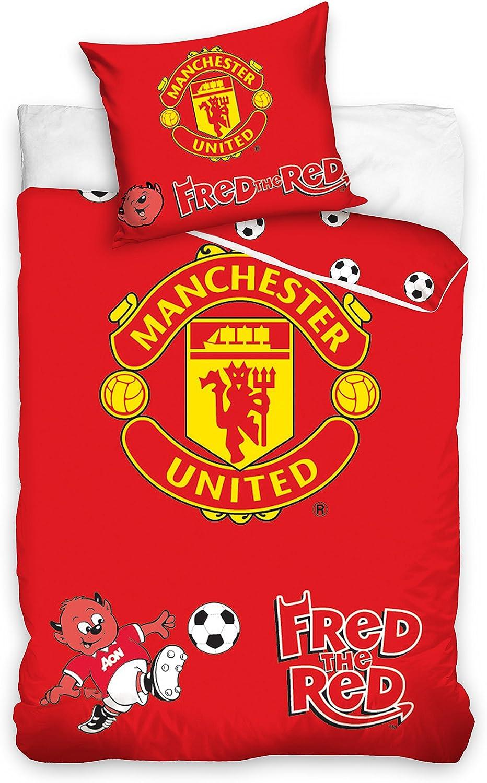 Manchester United Football Junior Lit pour Housse de couette 100/x 135/cm 100/% coton