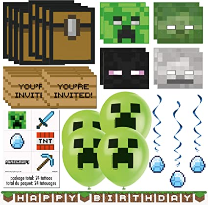 Amazon.com: Minecraft paquete de recuerdos y decoraciones ...