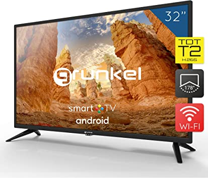 Grunkel - LED-320 ASMT - Televisor LED HD Ready Smart TV Wi-Fi: Amazon.es: Electrónica