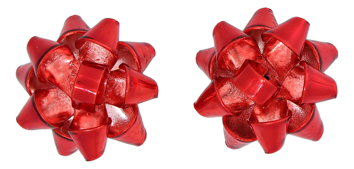 Amazon.com: Holiday Metal Gift Bow Stud Earrings (Gold Tone): Jewelry