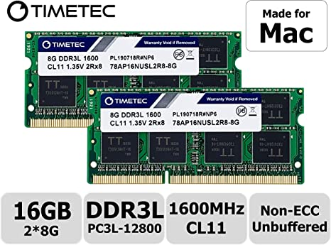 Timetec Hynix IC Apple 16GB Kit (2x8GB) DDR3 1600MHz PC3-12800 ...
