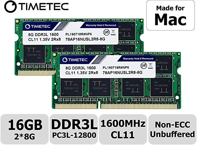 Timetec Hynix IC Apple 16GB Kit (2x8GB) DDR3 1600MHz PC3-12800 ...