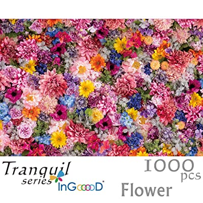 Ingooood- Jigsaw Puzzle 1000 Pieces- Tranquil Series- Flower_IG-0439 Entertainment Wooden Puzzles Toys: Toys & Games