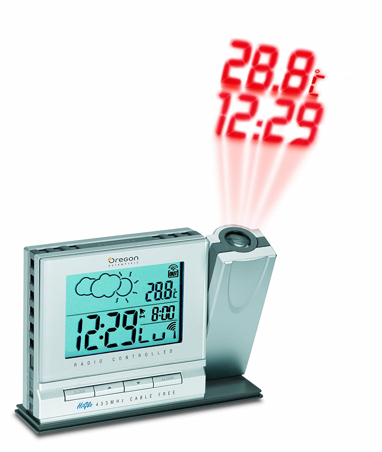 clock bar338pa boxs projection amazon co uk electronics rh amazon co uk Oregon Scientific WMR80A Weather Clock Oregon Scientific Alarm Clocks