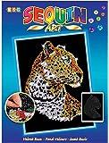 Art Sequin - KAD1208 - Peinture Au Numéro - Motif Léopard - 25 x 34 Cm - Coloris Aléatoire