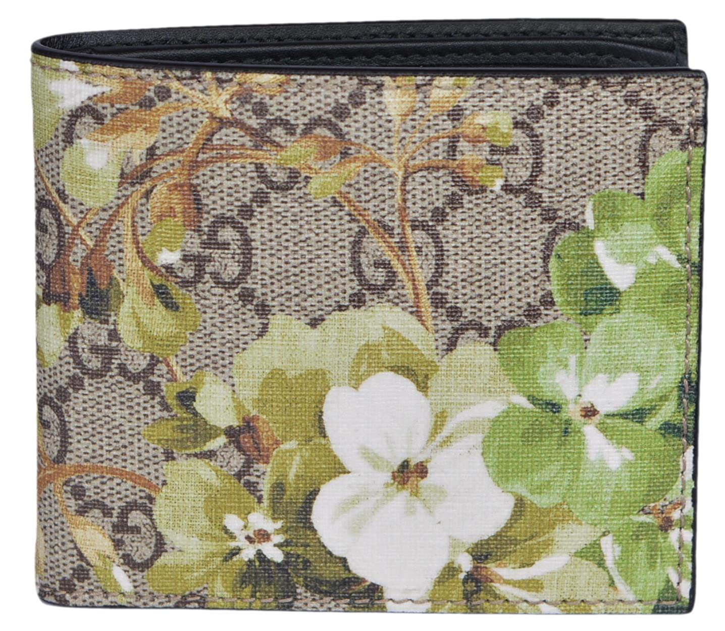 a913bafc71e Amazon.com  Gucci Men s GG Supreme Coated Canvas Bifold Wallet (Blooms)   Clothing
