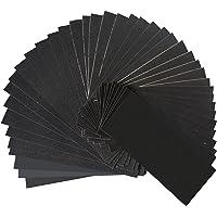 Aewio 40 Pcs 120 150 180 240 320 400 600 800 Grit Wet Dry Sandpaper Sheets for Automotive Sanding, Wood Furniture…