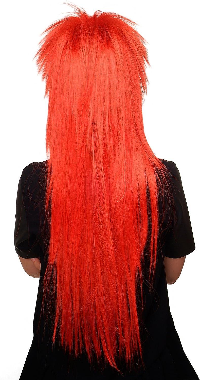 WIG ME UP- Peluca, años 80, rojo, glamour, glamoroso, estilo Rock, pelo largo WIG 9666-137