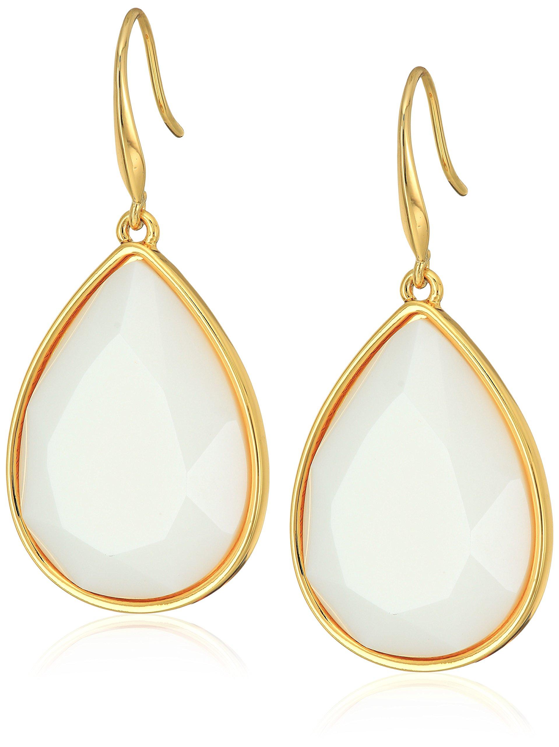 Trina Turk''Core Ii'' Gold/White Teardrop Earrings