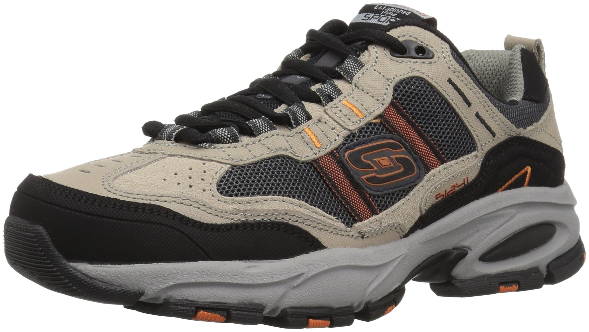 Skechers Sport Men's Vigor 2.0 Trait Memory Foam Sneaker, Taupe/Black, 7 M US by Skechers (Image #1)