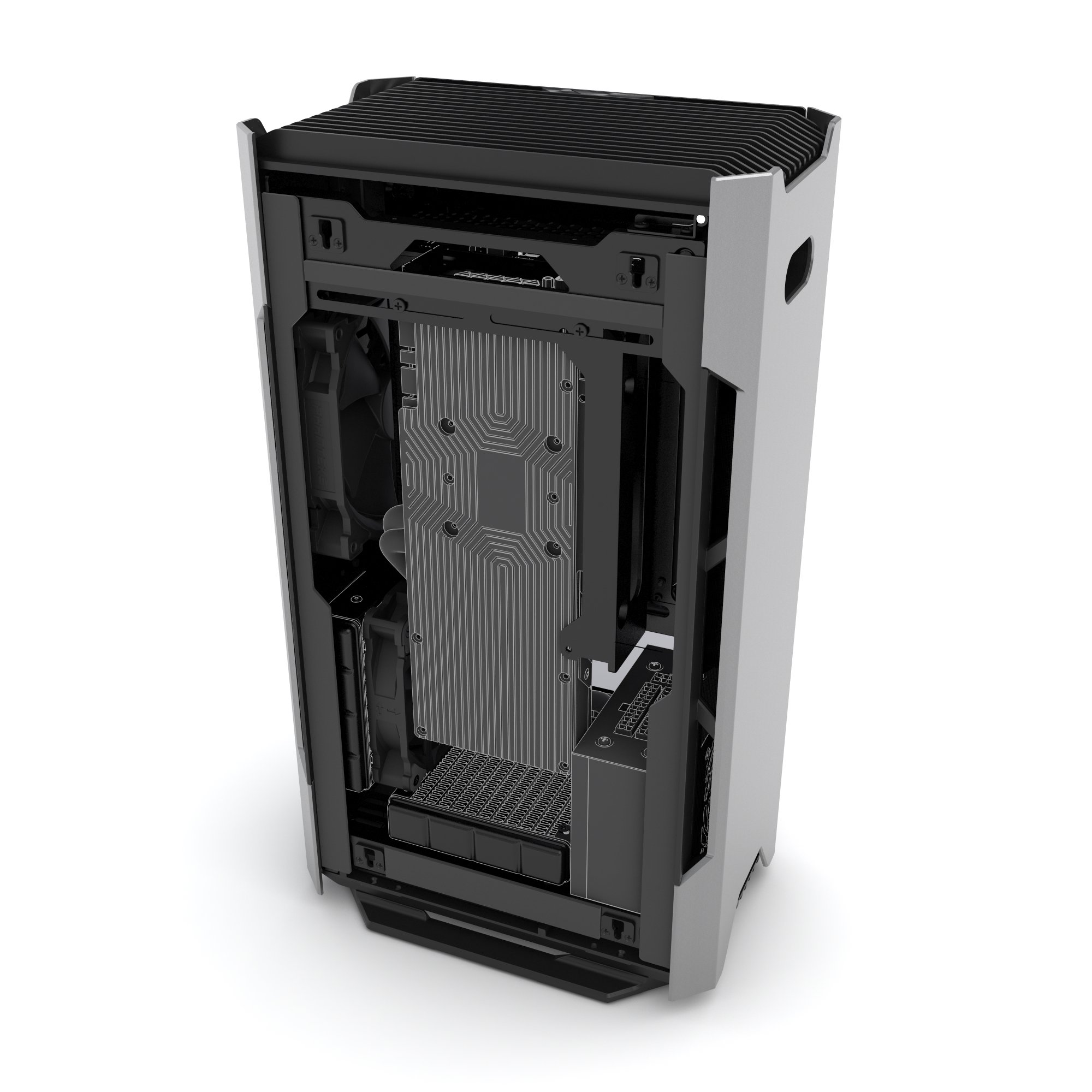 Phanteks PH-ES217E_AG EVOLV SHIFT Mini ITX Dual Tempered Glass for AIO water cooling Anthracite Gray Cases by Phanteks (Image #8)