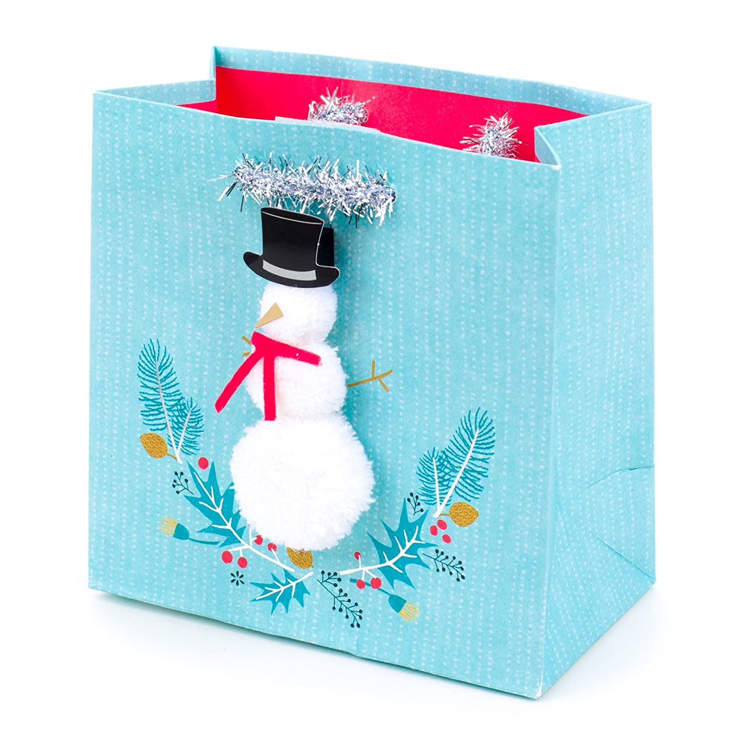 Amazon Hallmark Signature Holiday Small Gift Bag Snowman