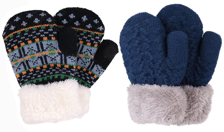 Disney Descendants EVIE Mittens GLOVES blue Girls Knit Winter Gloves New