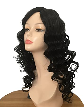 BUTY Synthetic Long Curly Wig for Women Sexy Natural Looking Style Wavy Ventilating Female Pelucas Heat