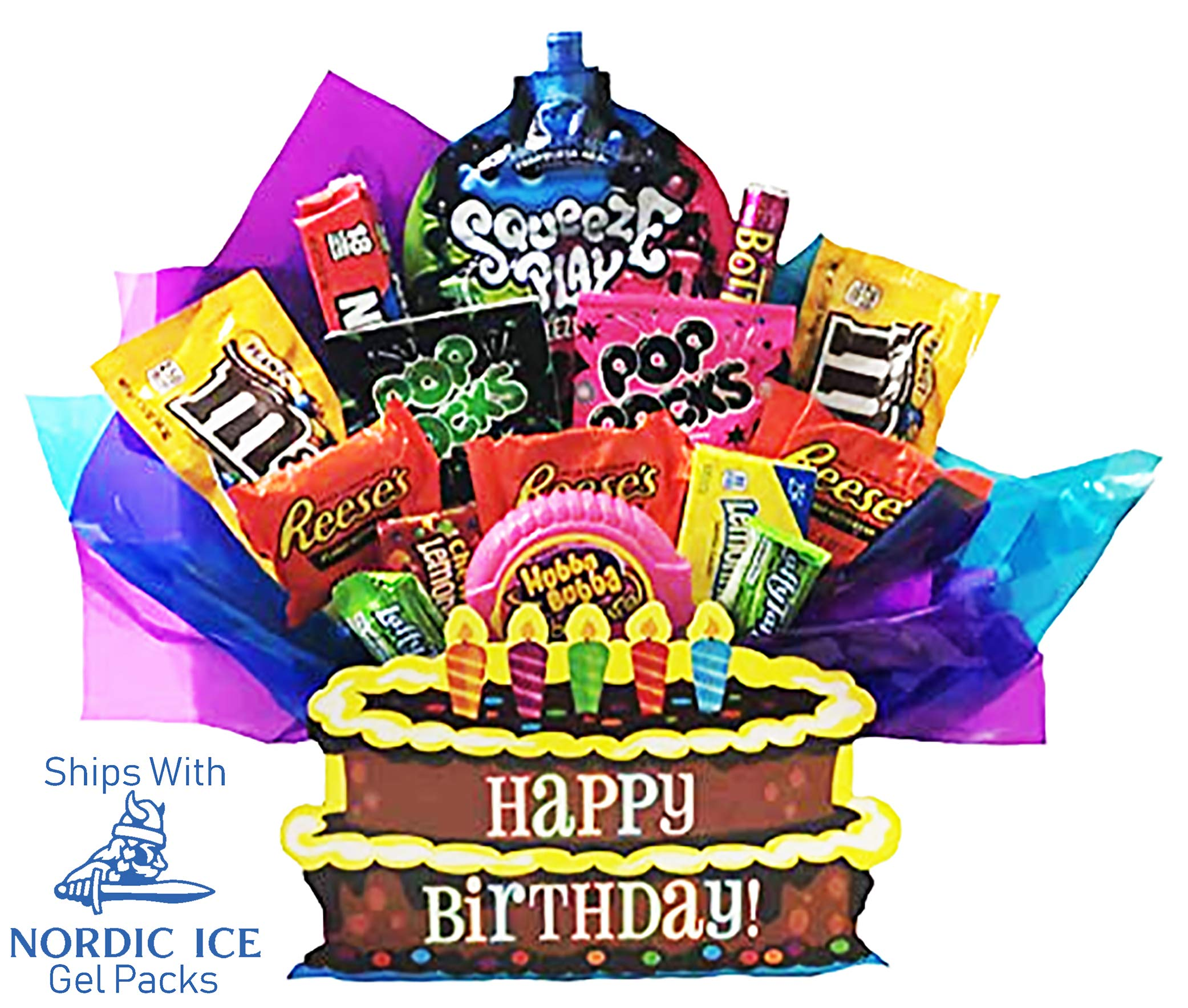 CDM product Happy Birthday Chocolate and Candy Present in Decorative Gift Box. Full of Brand Name Popular Items. big image