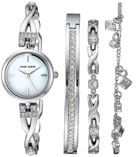 Amazon Com Anne Klein Women S Swarovski Crystal Accented Silver