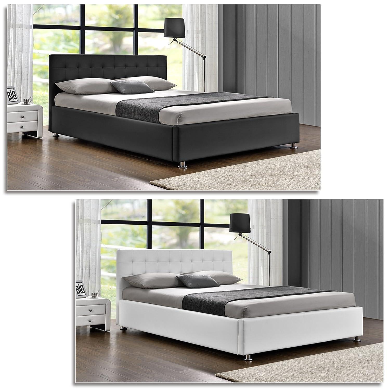 DI-LIFESTYLE Cubas Doppelbett Schwarz Oder Weiß Polsterbett Bett ...