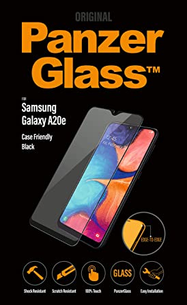 PanzerGlass 7196 - Protector de pantalla (Protector de pantalla, Teléfono móvil/smartphone, Samsung, Galaxy A20e, Resistente a rayones, Resistente a golpes, Negro, Transparente): Amazon.es: Electrónica