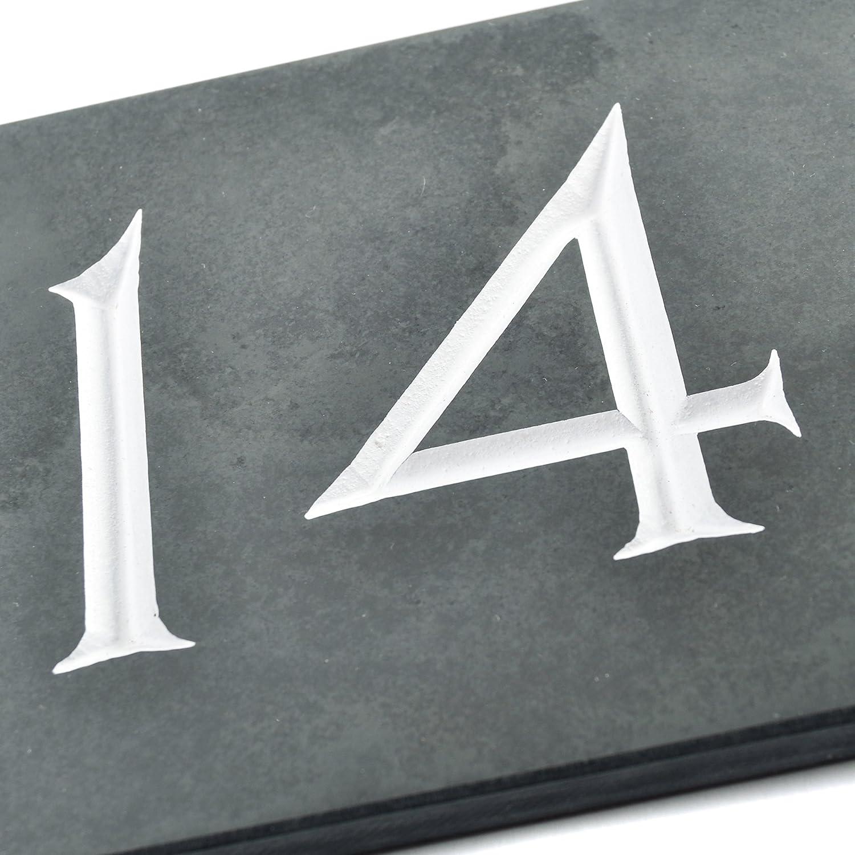 /ENVOI le m/ême Jour par 1st Class Post 14 x 10 x 1cm Ardoise num/éro de maison/ Black /de la plus haute qualit/é sur / Charcoal Grey