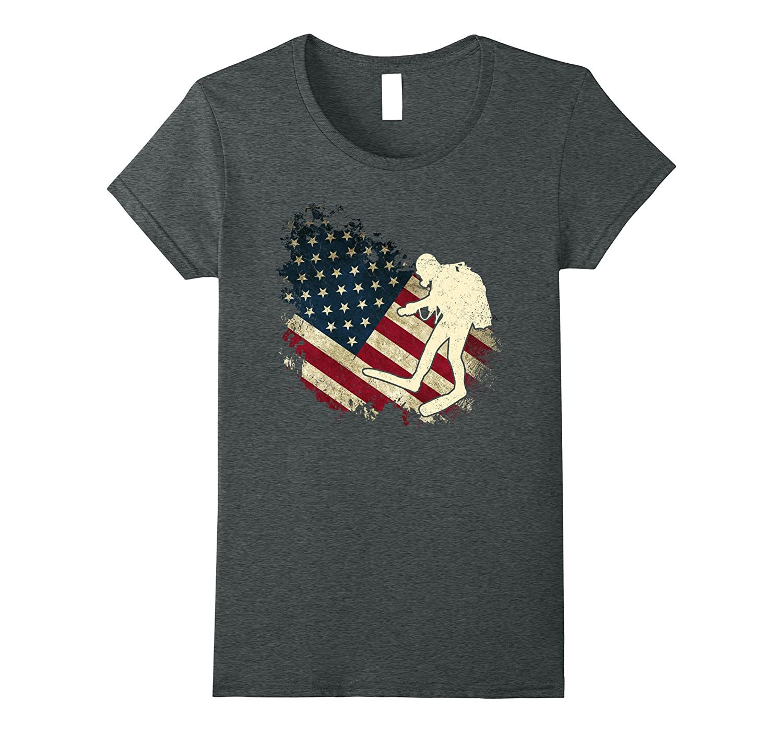 American Flag With Scuba Diver T-shirt Scuba Diving