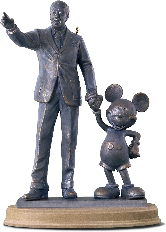 Hallmark Keepsake Christmas Ornament 2018 Year Dated, Disney Mickey Mouse Partners Walt