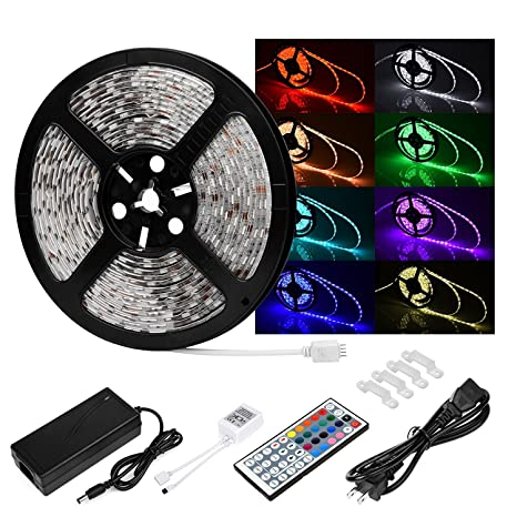 Amazon led rope lights le freshinsoft waterproof 164ft 5m smd led rope lights le freshinsoft waterproof 164ft 5m smd 5050 300ledsroll rgb color mozeypictures