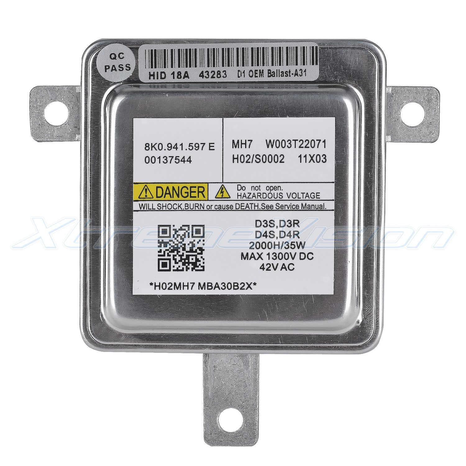 - 2 Year Warranty XtremeVision OEM Replacement Ballast Compatible with Mitsubishi W003T22071 Xenon HID Ballast D1S//D1R Single - 1 PCS